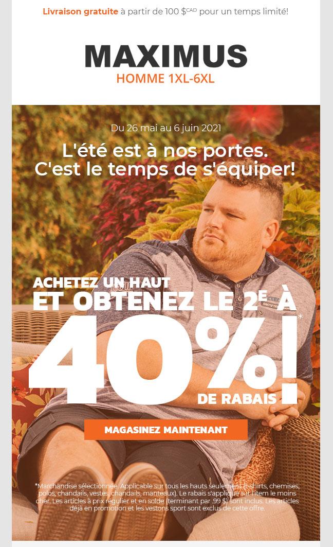 4 Jours Restants: 2e à 40% Sur Les Hauts