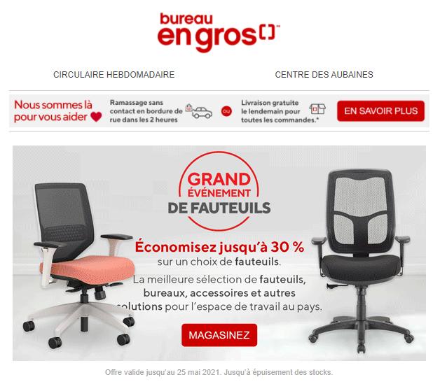 Alerte: Le Grand événement De Fauteuils Est De Retour + Récompensez Vous Pour Vos Achats ...