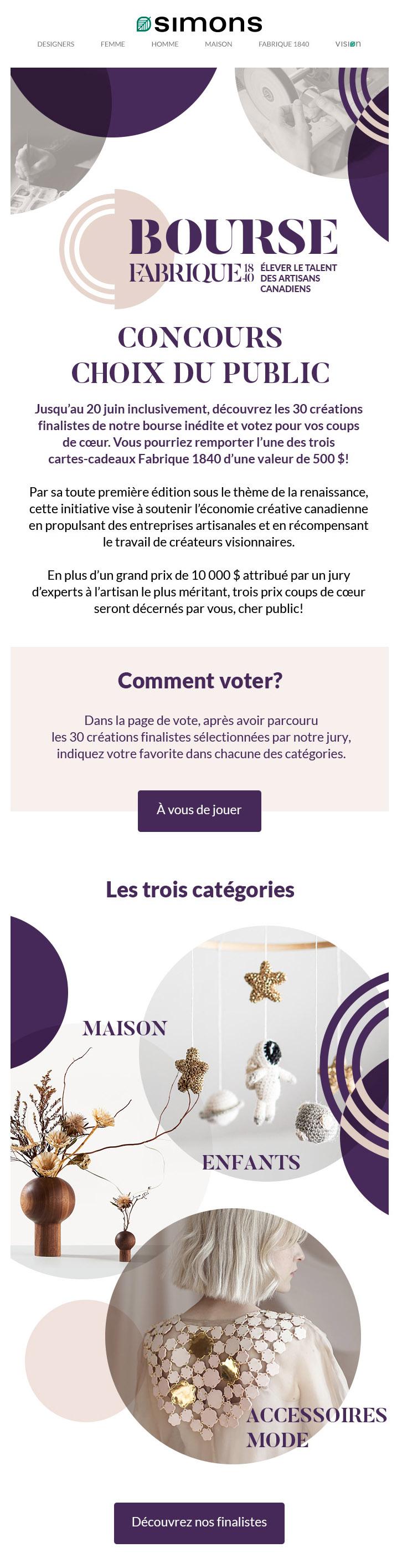 Bourse Fabrique 1840 : à Vous De Voter!