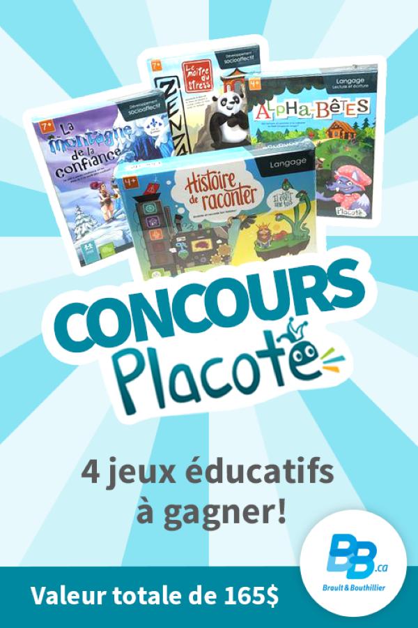 Concours Gagnez 4 Nouveaux Jeux De Placote, Créateur Québécois De Jeux éducatifs!