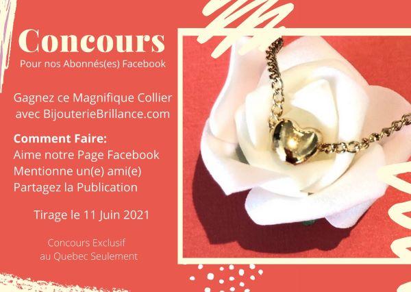 Concours Gagnez Ce Magnifique Collier Petit Coeur Or!