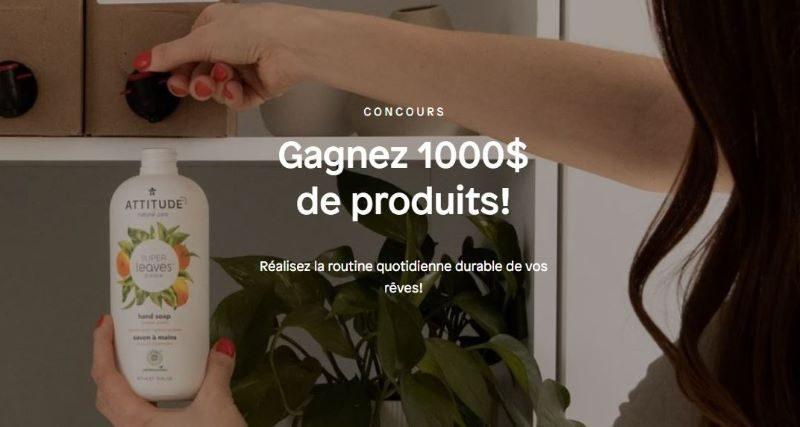 Concours Gagnez Des Produits De La Marque Attitude D'une Valeur De 1 000$!