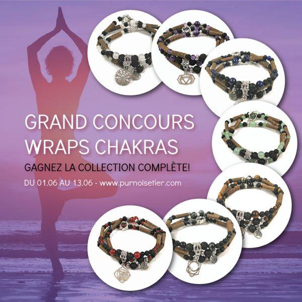 Concours Gagnez La Collection Complète De Bijoux Diffuseurs Wraps Représentant Les 7 Chakras!