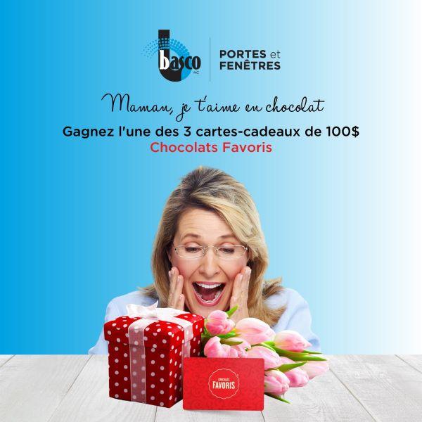 Concours Gagnez L'une Des 3 Cartes Cadeaux Chocolats Favoris De 100$!