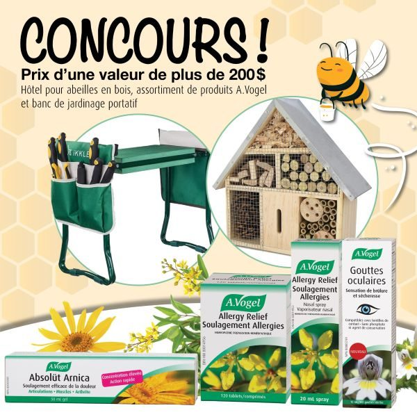 Concours Gagnez Un Banc De Jardinage Portatif Et Un Hôtel Pour Abeilles Grâce à A.vogel!