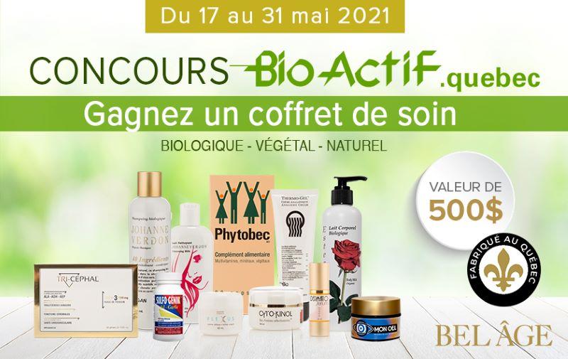 Concours Gagnez Un Coffret De Soin Des Produits Bio Actif D'une Valeur De 510,50$!