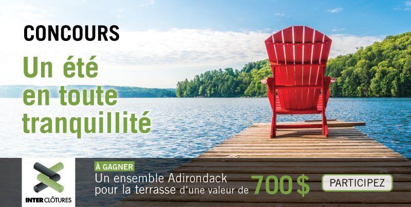 Concours Gagnez Un Ensemble Adirondack Pour La Terrasse D'une Valeur De 700$!