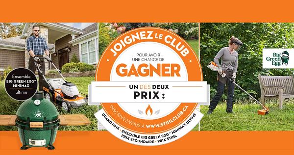 Concours Gagnez Un Ensemble Big Green Egg Offert Par Stihl!