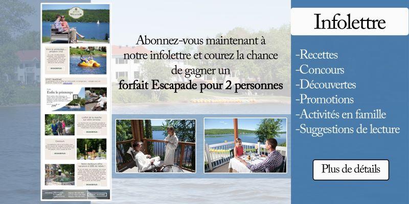 Concours Gagnez Un Forfait Escapade Pour 4 Personnes Au Manoir Du Lac William!