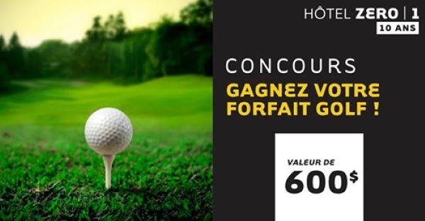 Concours Gagnez Un Forfait Golf D'une Valeur De 600$ à L