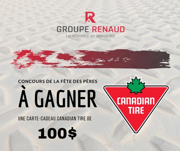Concours Gagnez Une Carte Cadeau Canadian Tire D'une Valeur De 100$!