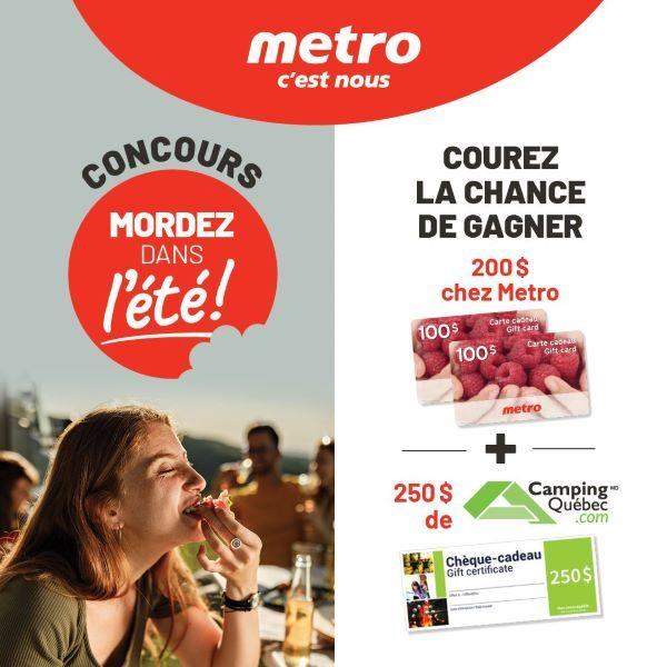 Concours Gagnez Une Carte Cadeau Metro De 200$ Ainsi Qu