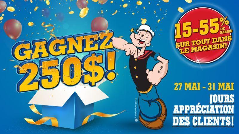 Concours Gagnez Une Carte Cadeau Popeye
