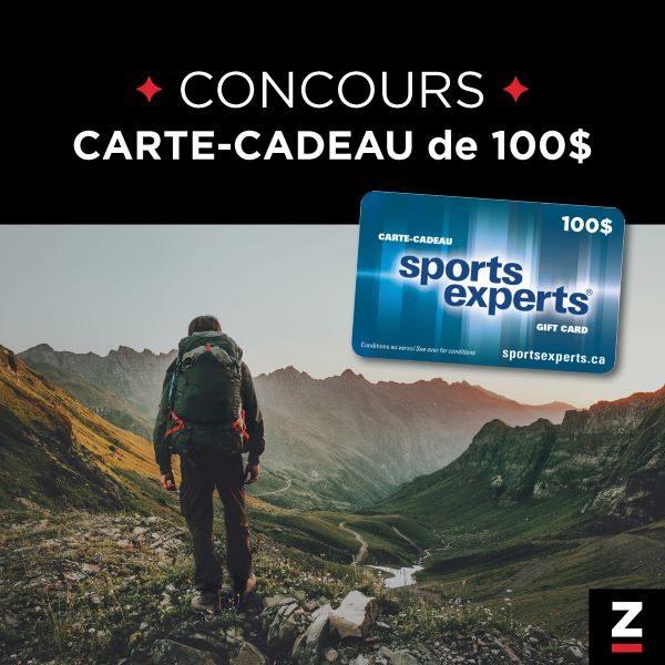 Concours Gagnez Une Carte Cadeau Sports Experts De 100$!