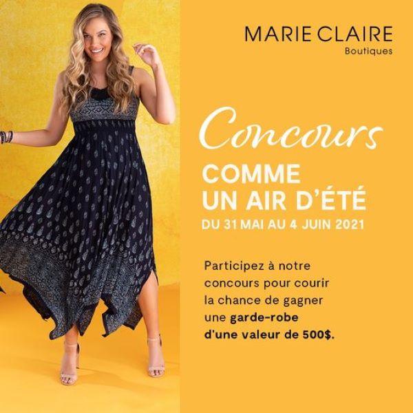 Concours Gagnez Une Garde Robe Estivale D'une Valeur De 500$ Chez Boutiques Marie Claire!