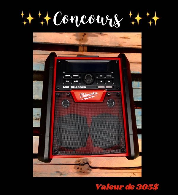 Concours Gagnez Une Radio / Chargeur De Chantier M18 D'une Valeur De 305$!