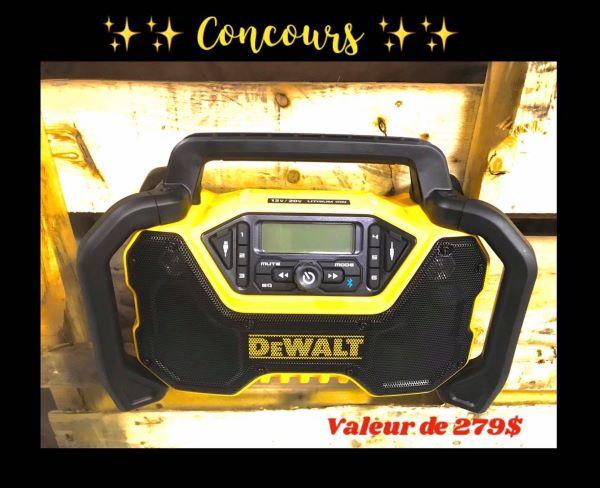 Concours Gagnez Une Radio De Chantier D'une Valeur De 279$!