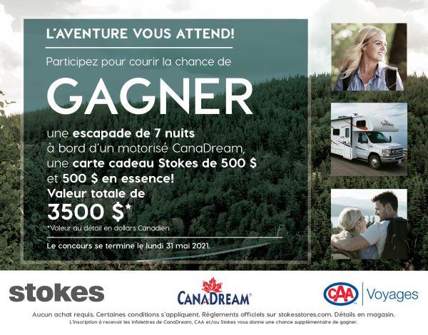 Concours Prenez La Route Avec Stokes, Caa Et Canadream!