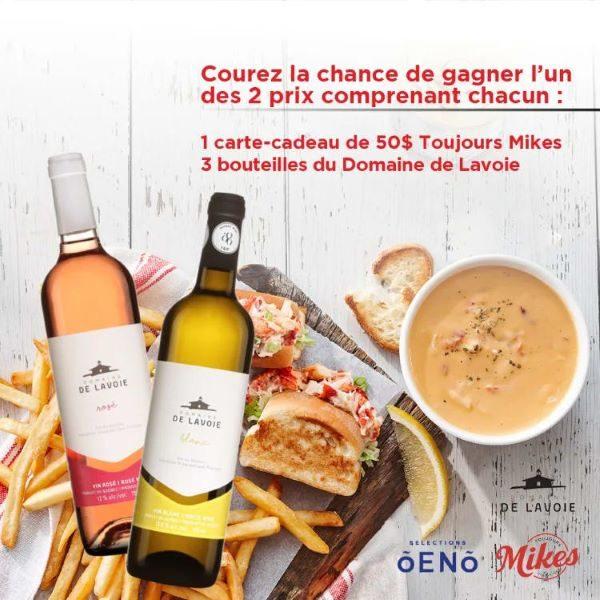 Concours Toujours Mikes Et Domaine De Lavoie!