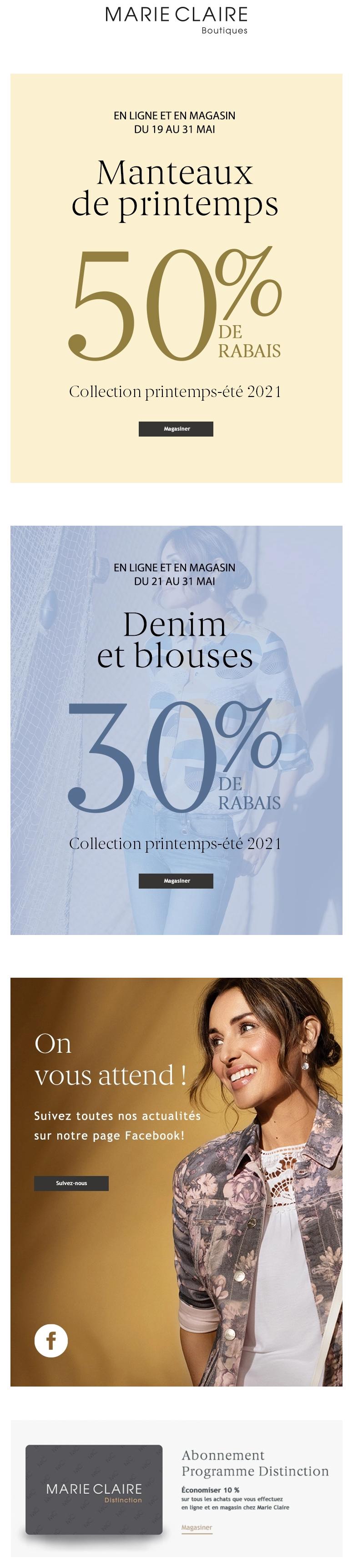 Encore Quelques Jours : 50% Sur Les Manteaux De Printemps
