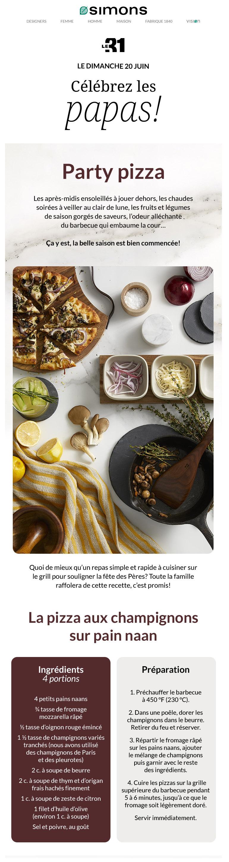 P Pour... Party Pizza Pour Papa!