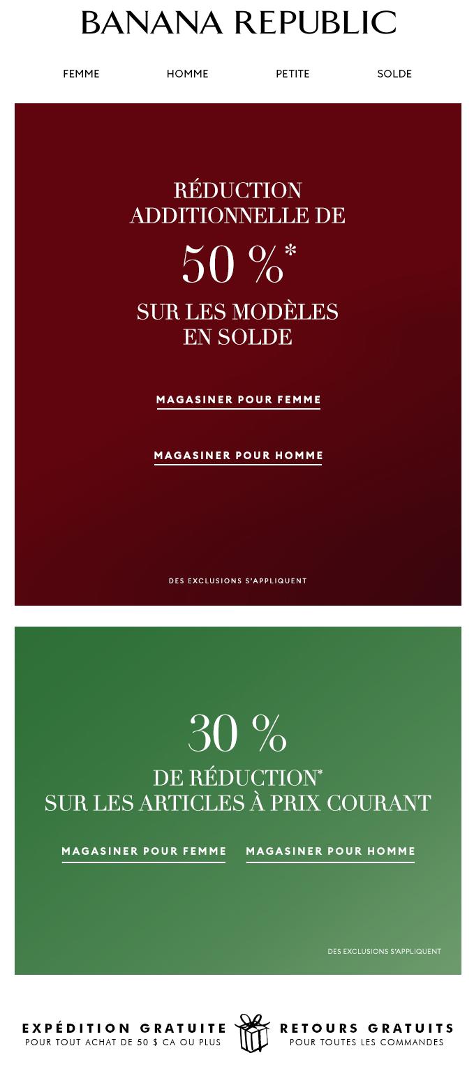 Réduction Additionnelle De 50 % Sur Les Modèles En Solde!