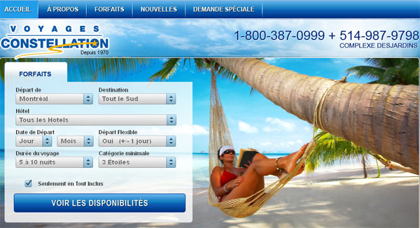 Agence Voyage Constellation En Ligne Montreal