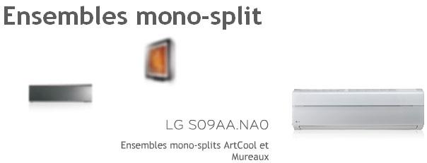 Air Climatisé Murale Mono Splits Artcool Muraux