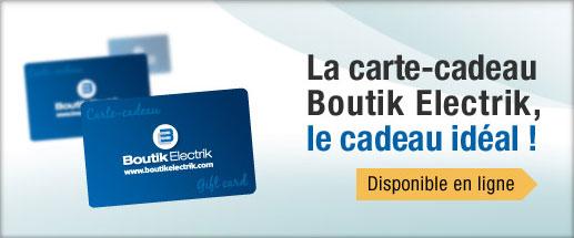 Carte Cadeau Boutik Electrik