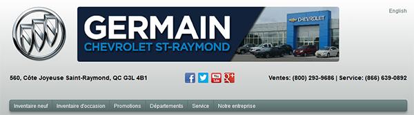 Germain Chevrolet Buick Gmc En Ligne