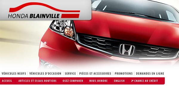 Honda De Blainville En Ligne