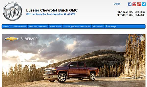 Lussier Chevrolet Buick Gmc En Ligne