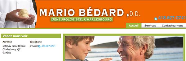 Mario Bédard Denturologiste En Ligne