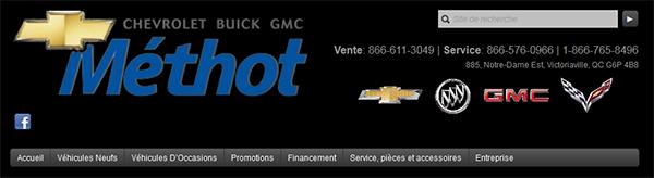 Méthot Chevrolet Buick Gmc En Ligne