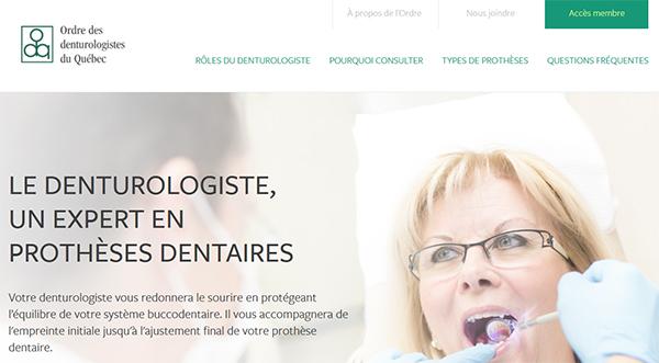 Ordre Des Denturologistes Du Québec En Ligne