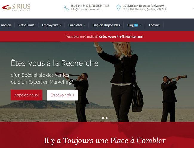 Sirius Personnel Chasseurs De Têtes Montreal