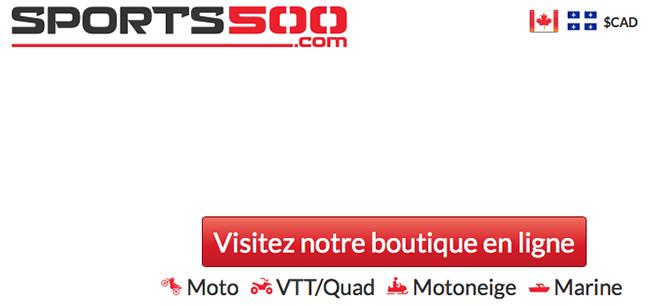 Sports 500 équipement Pour Sports Motorisé