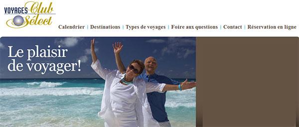 Voyages Club Select En Ligne